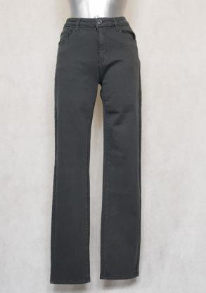 Pantalon femme grande taille droit gris gainant