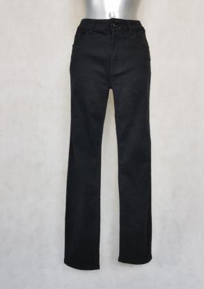 Pantalon femme grande taille droit noir gainant