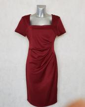 robe femme grande taille drapée rouge