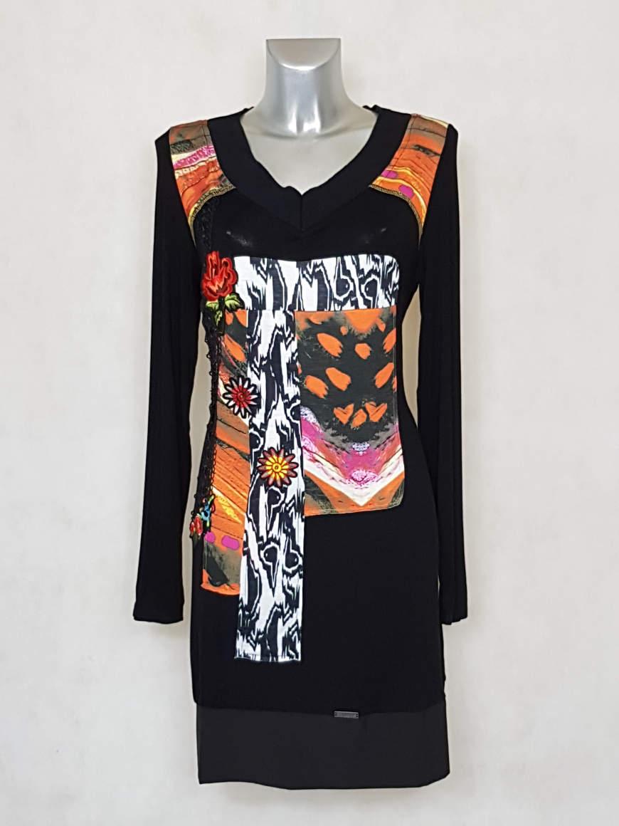robe-femme-grande-taille-droite-motif-patchwork