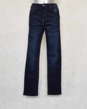 Pantalon jeans femme grande taille droit bleu gainant