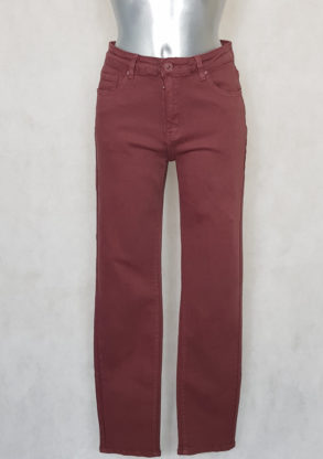 Pantalon femme grande taille droit rose gainant