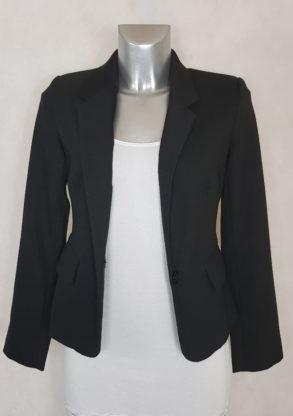 veste blazer femme noir uni