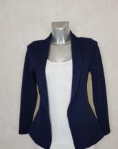 veste blazer femme marine unie cintrée