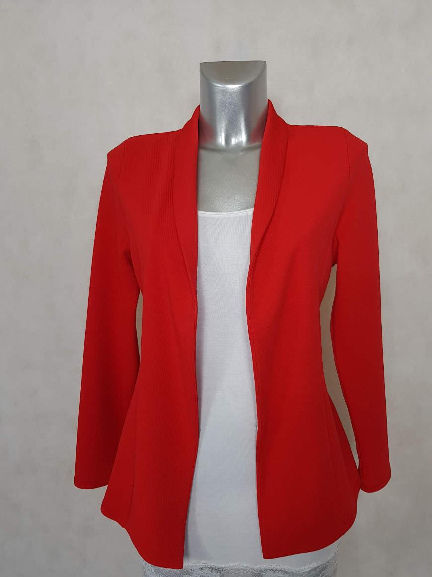 veste-blazer-femme-rouge-unie-cintree