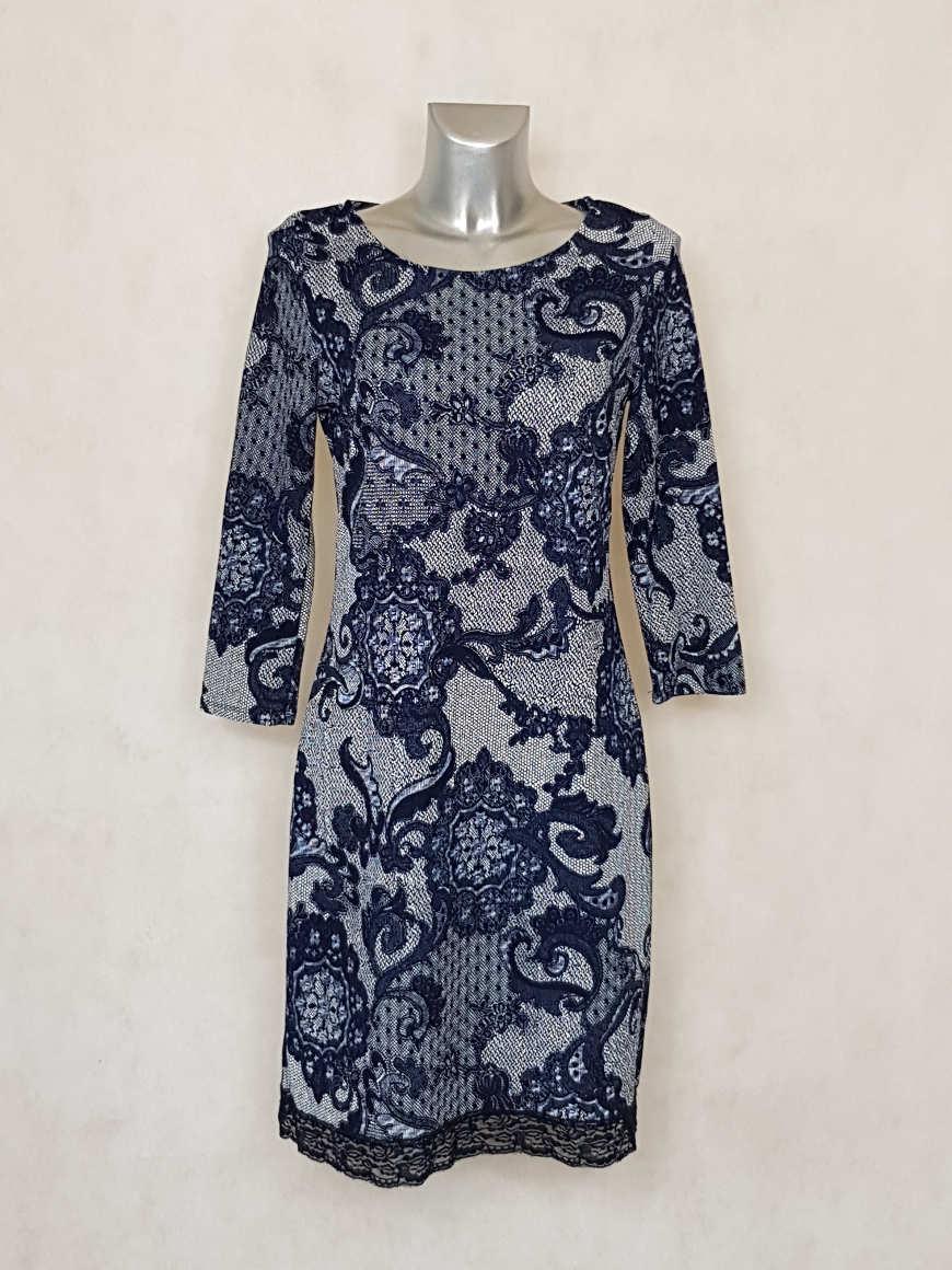 robe-droite-courte-imprimée-dentelle-florale