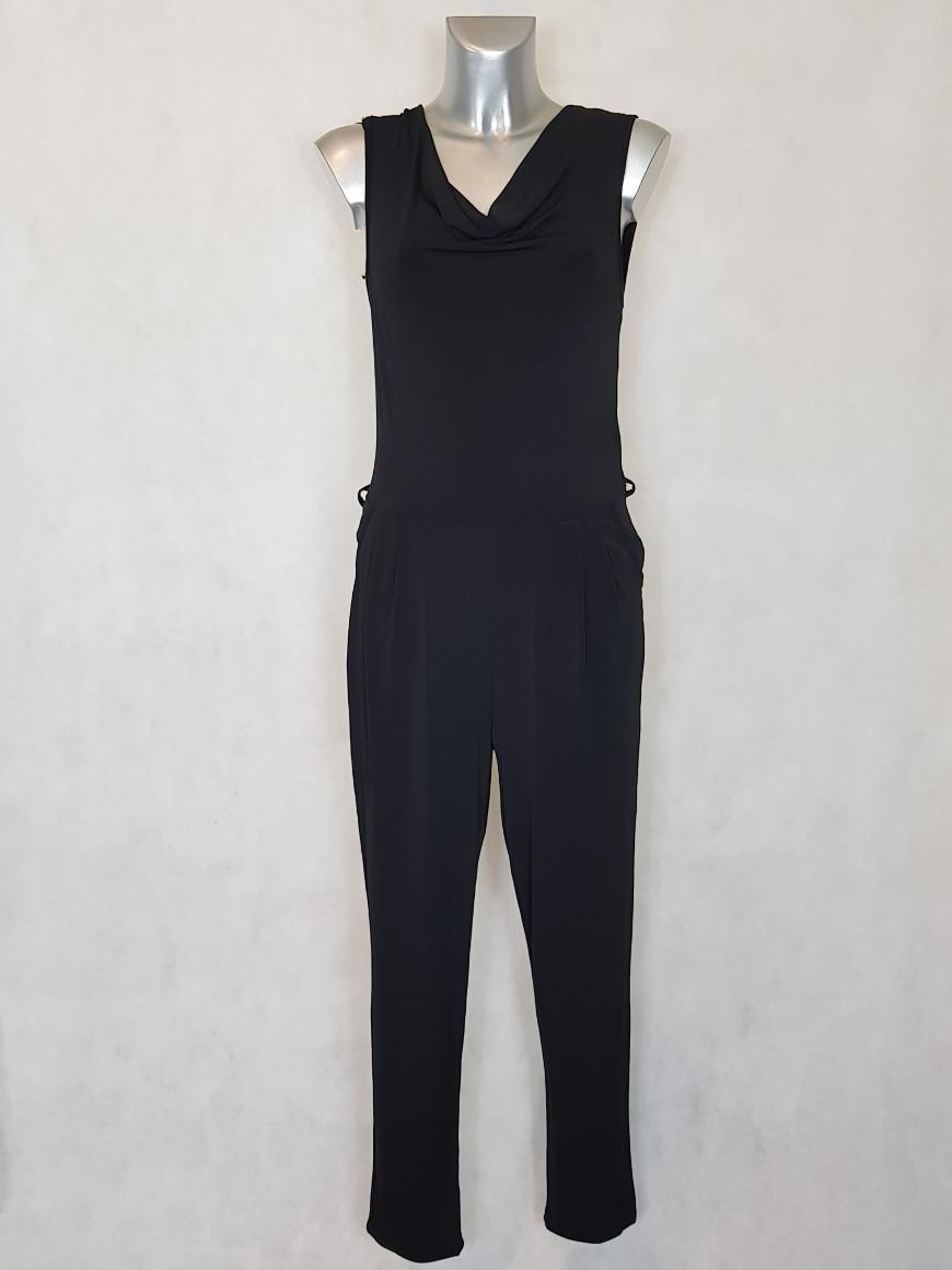 combinaison-pantalon-femme-fluide-noir-uni