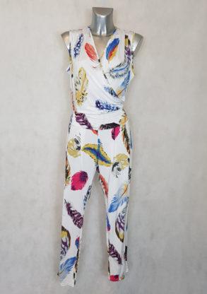 combi-pantalon femme grande taille plume