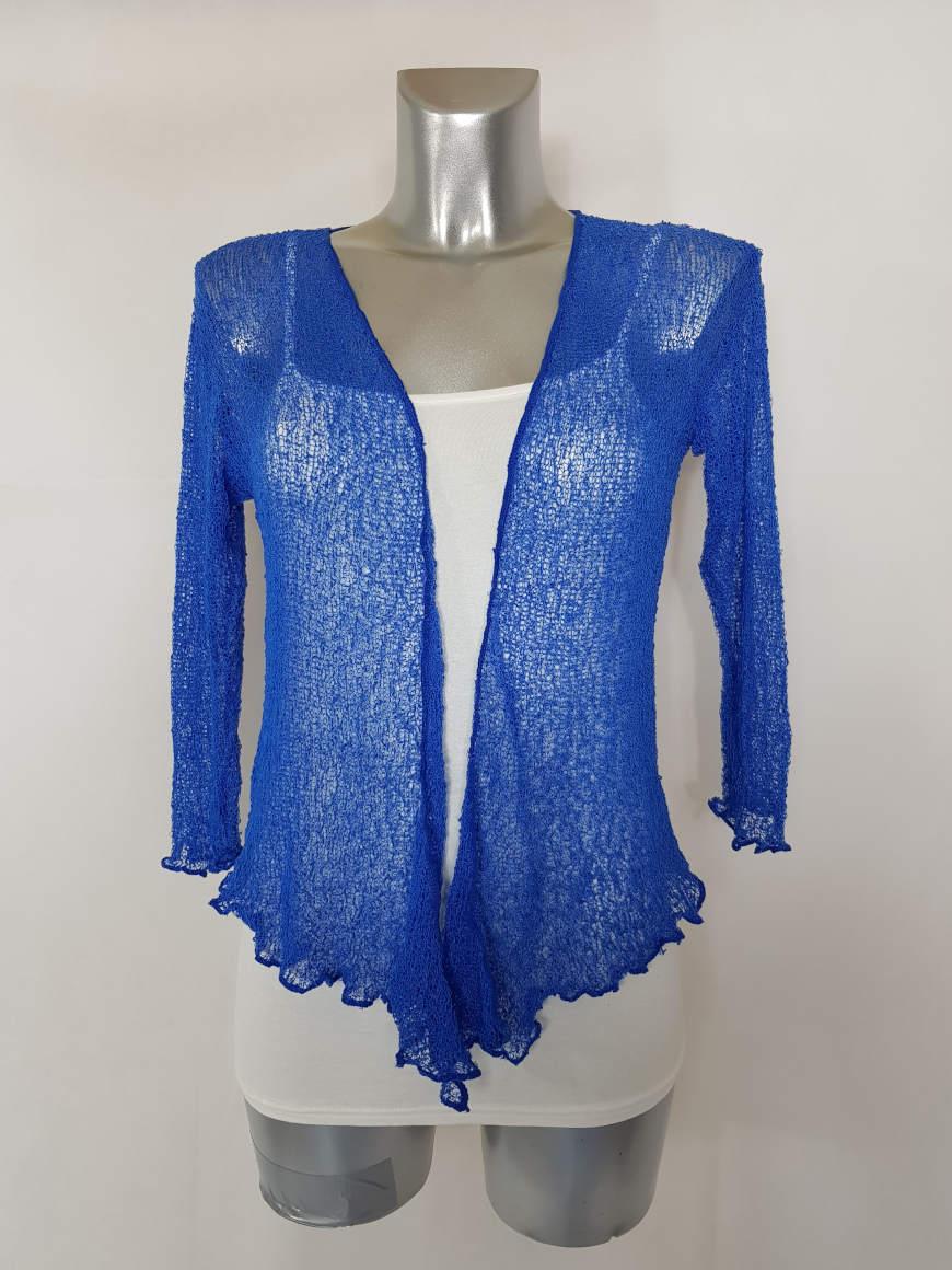 VVeste boléro femme élégante manches courtes ¾ bleu roi