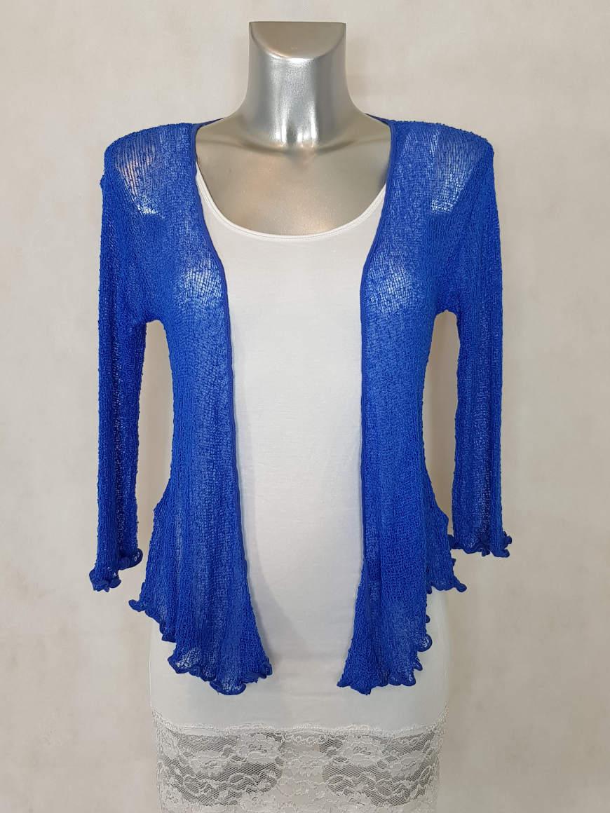 bolero-femme-court-bleu-roi-ajouree-manches-¾2