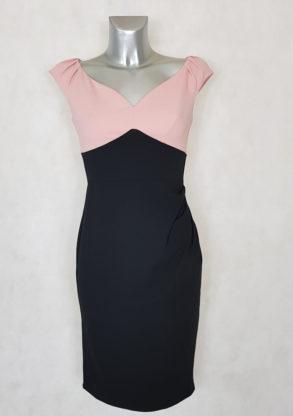 robe femme drapée sans manches bicolore