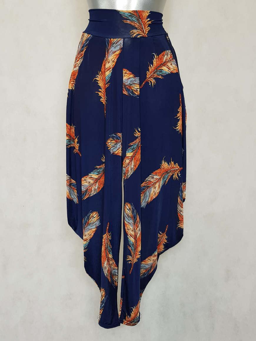 pantalon-femme-sarouel-fluide-motif-plume