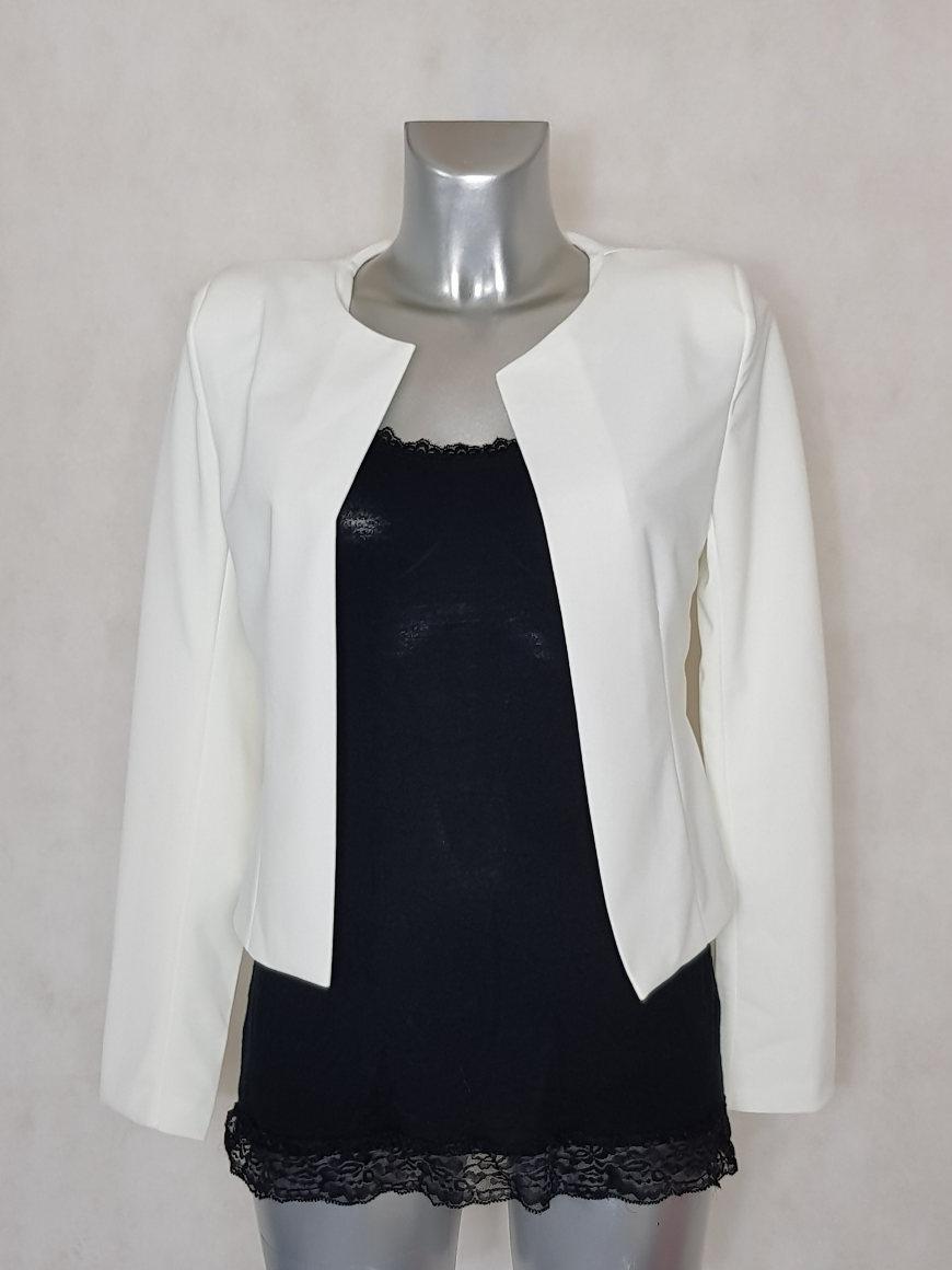 veste bol ro femme unie blanc manches longues caprices de madeleine. Black Bedroom Furniture Sets. Home Design Ideas