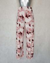 Pantalon femme large fluide taille haute à motifs