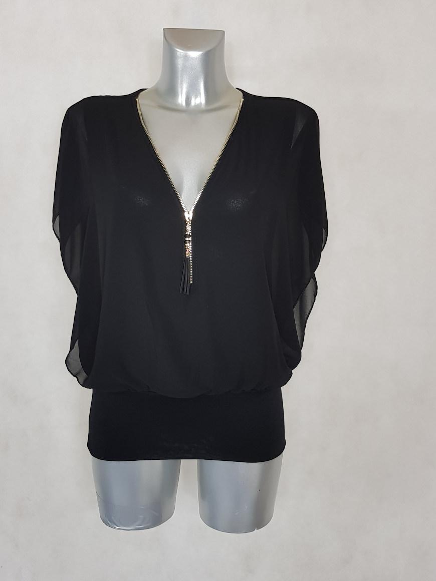 tunique-femme-blousante-noir-2-en-1-col-zippe2