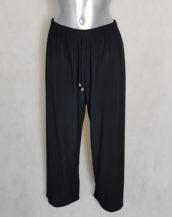 Pantalon large femme ronde taille haute élastique