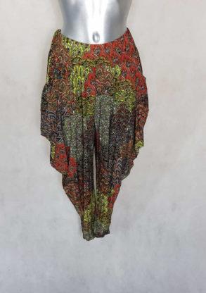 Sarouel femme original taille haute élastique motif aztèque