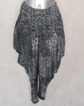 Pantalon sarouel femme stretch noir et blanc