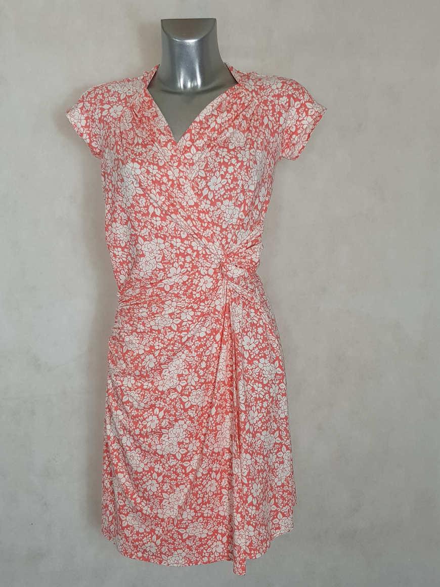 robe-femme-fluide-drapee-motif-liberty-corail-cache-coeur
