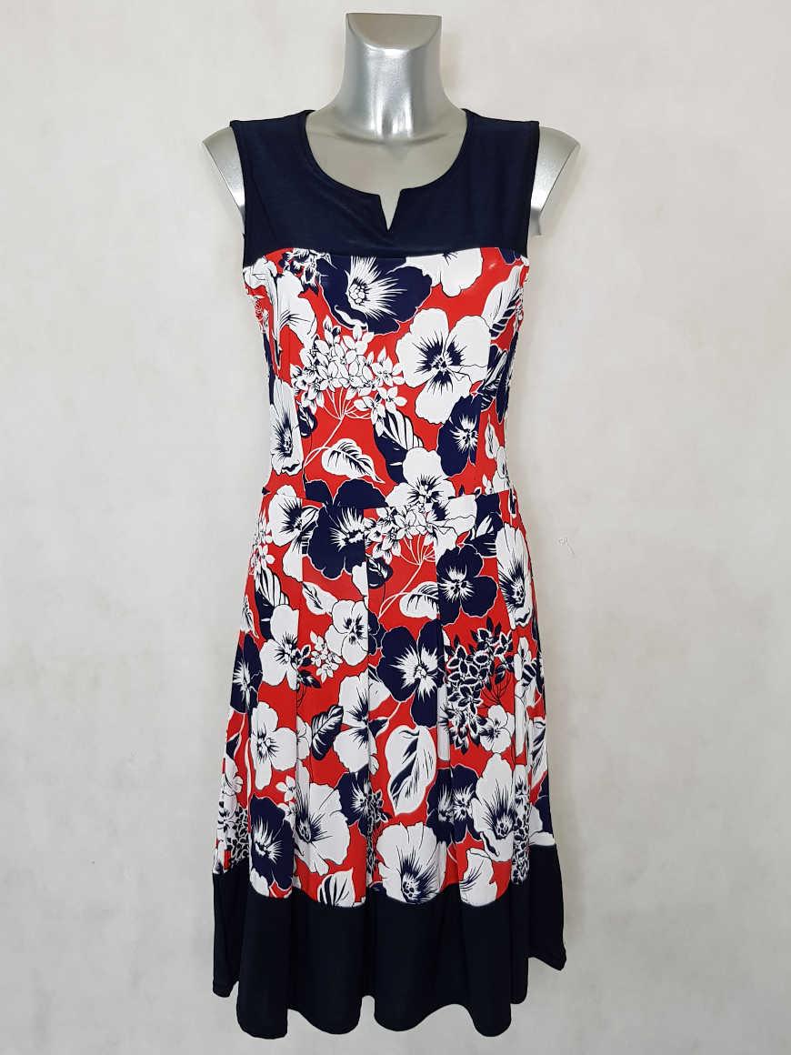 robe-femme-rouge-ajustee-evasee-fluide-fleurie1