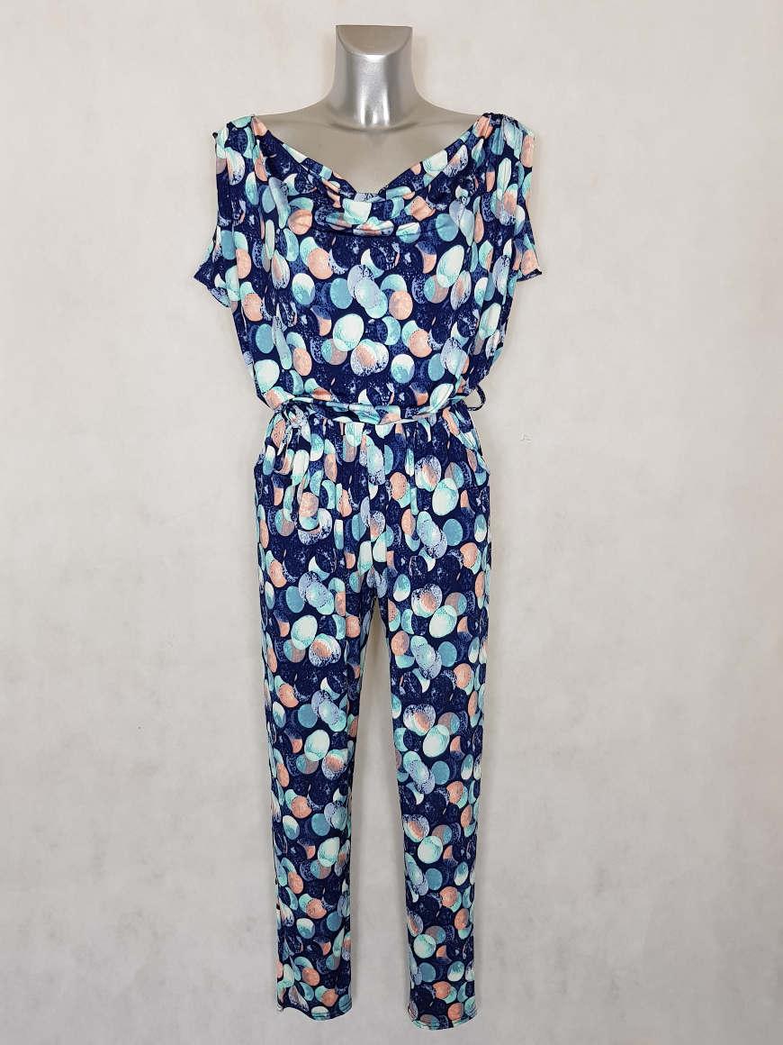 combi-pantalon-femme-fuselee-fluide-bleu-a-pois2