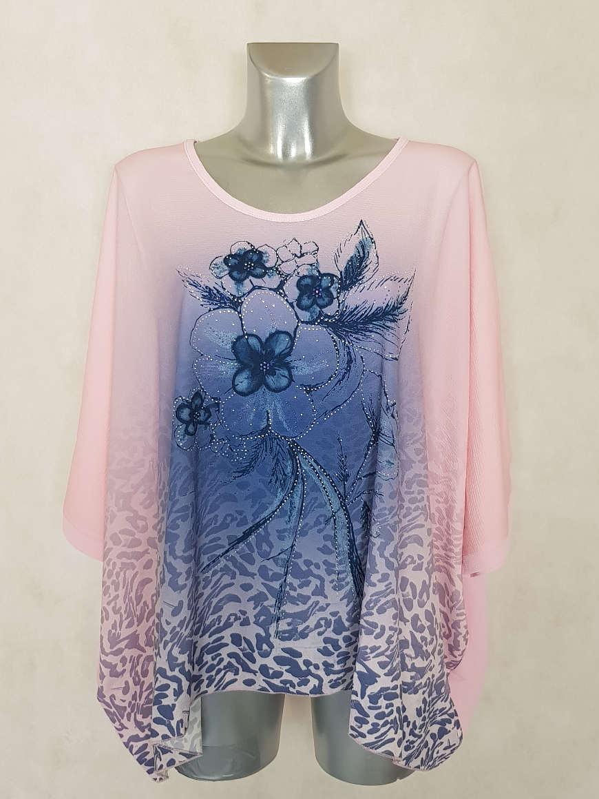 tunique-femme-ronde-rose-motif-floral-et-strass1