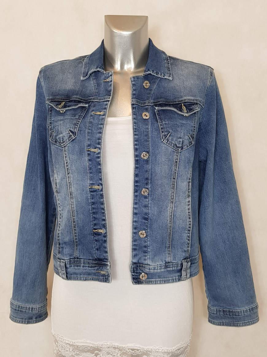 veste en jeans bleu clair délavé et cintrée femme - Caprices de ... 14f8db733e0d
