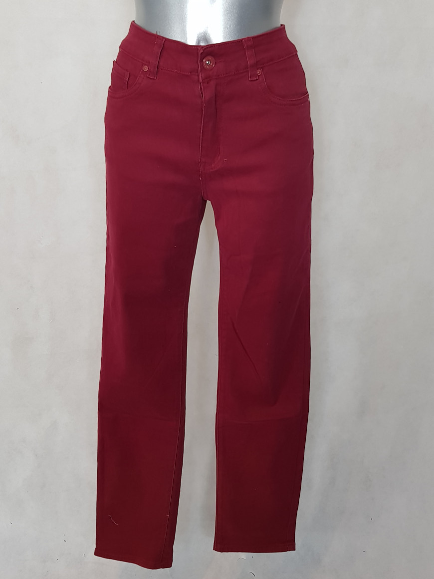 Pantalon femme droit taille haute bordeaux - Aux caprices de madeleine 56c78b4c709a