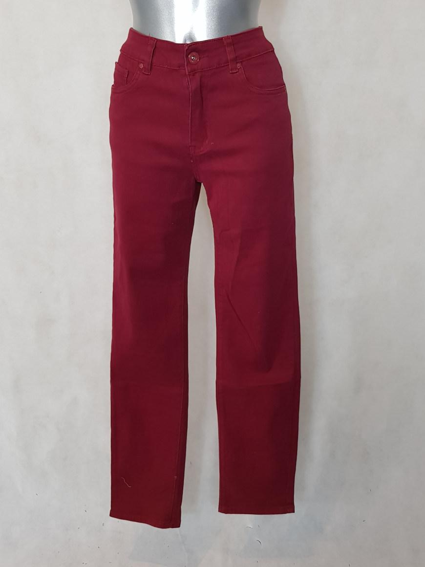 659134c76e38d Pantalon femme droit taille haute bordeaux - Aux caprices de madeleine