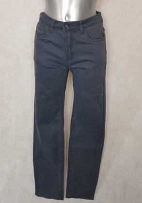 Pantalon femme droit taille haute gris perle gainant