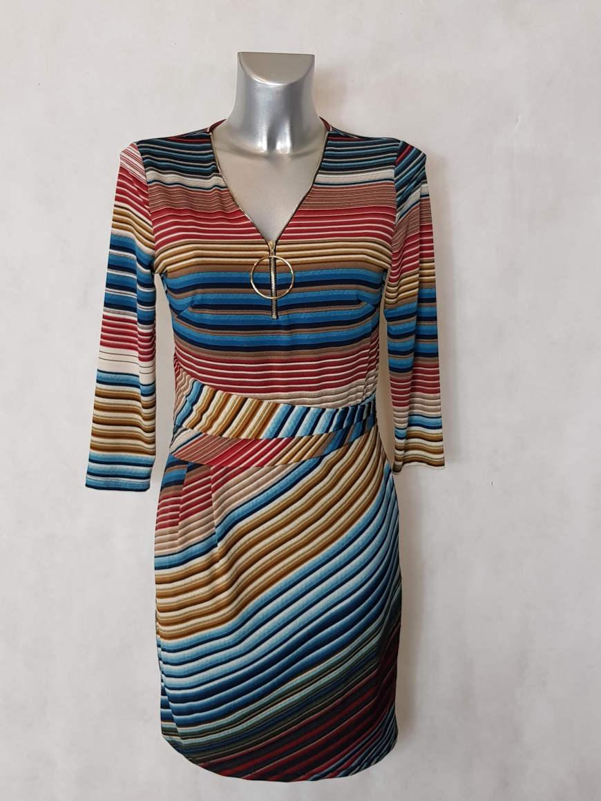 robe-femme-courte-drapee-a-rayures-col-v-zip2