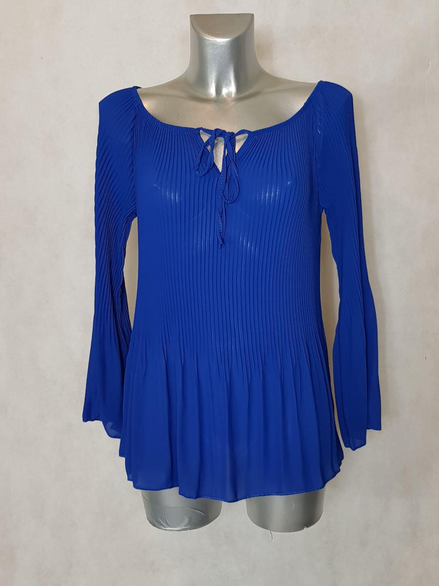 tunique-femme-bleu-roi-en-voile-plissee-soleil