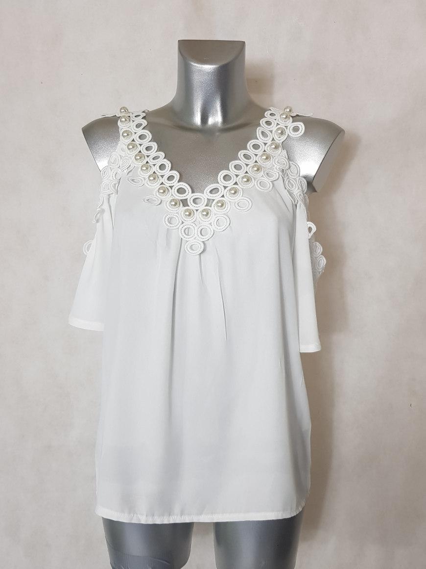 tunique-femme-en-voile-blanc-dentele-avec-perle2