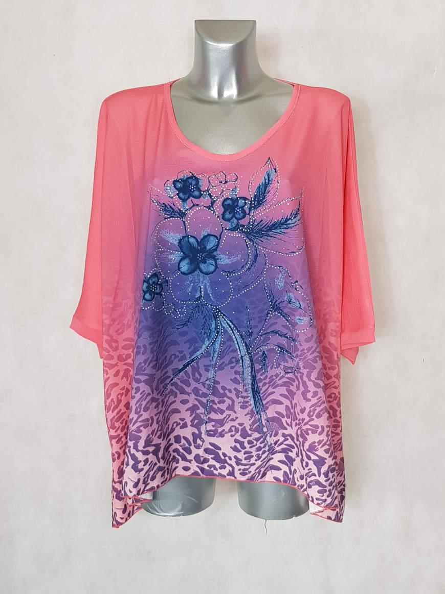 tunique-femme-ronde-corail-motif-floral-et-strass