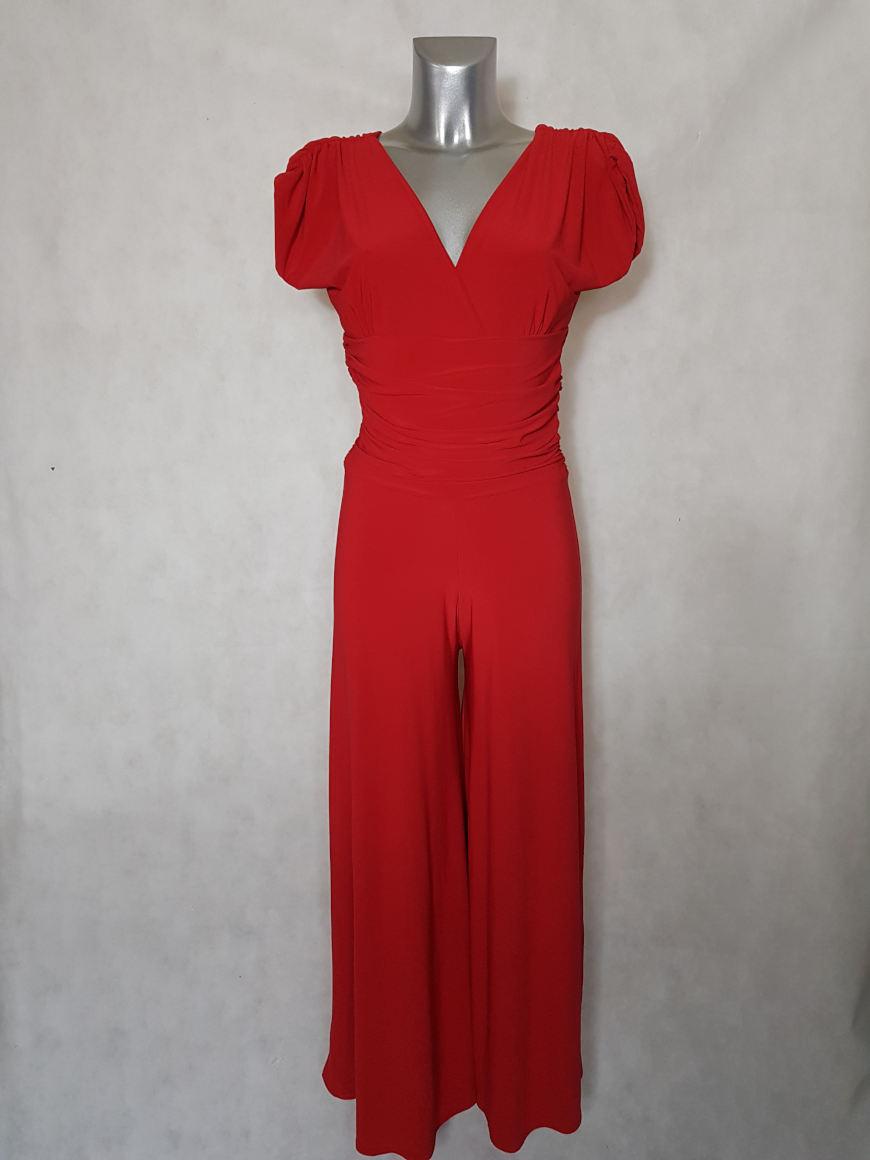 combi-pantalon-femme-large-uni-rouge-col-v2