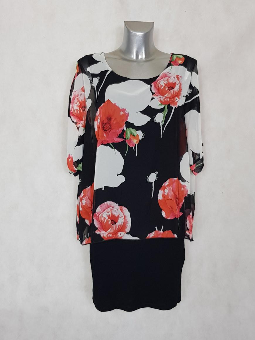 robe-femme-bi-matiere-voile-floral-et-jersey-noir1