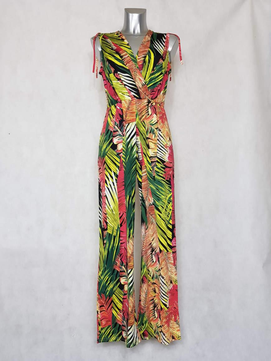 combi-pantalon-femme-large-motif-feuille-tropicale