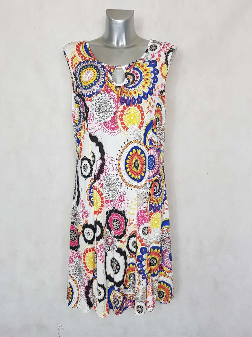 robe-femme-evasee-jaune-motif-ethnik1