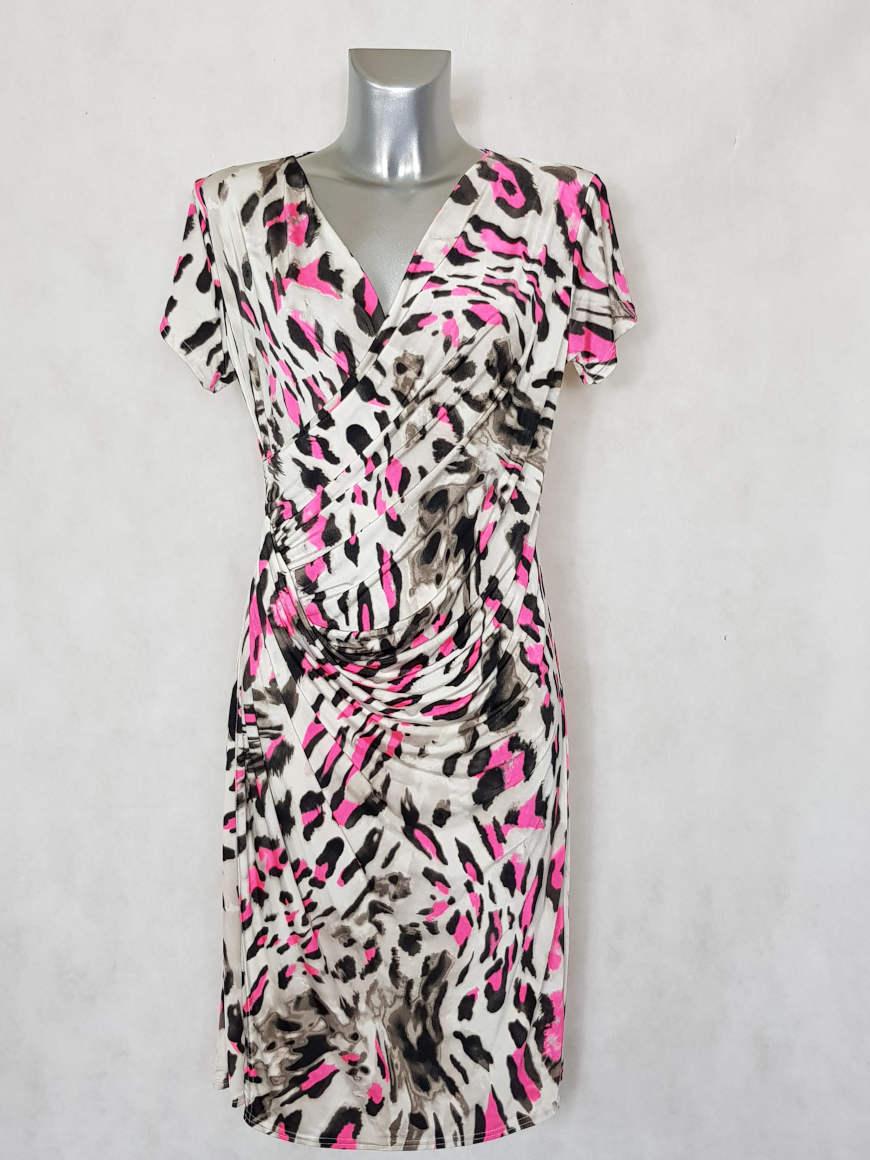 robe-femme-fluide-drapee-beige-motif-animal-fluo1