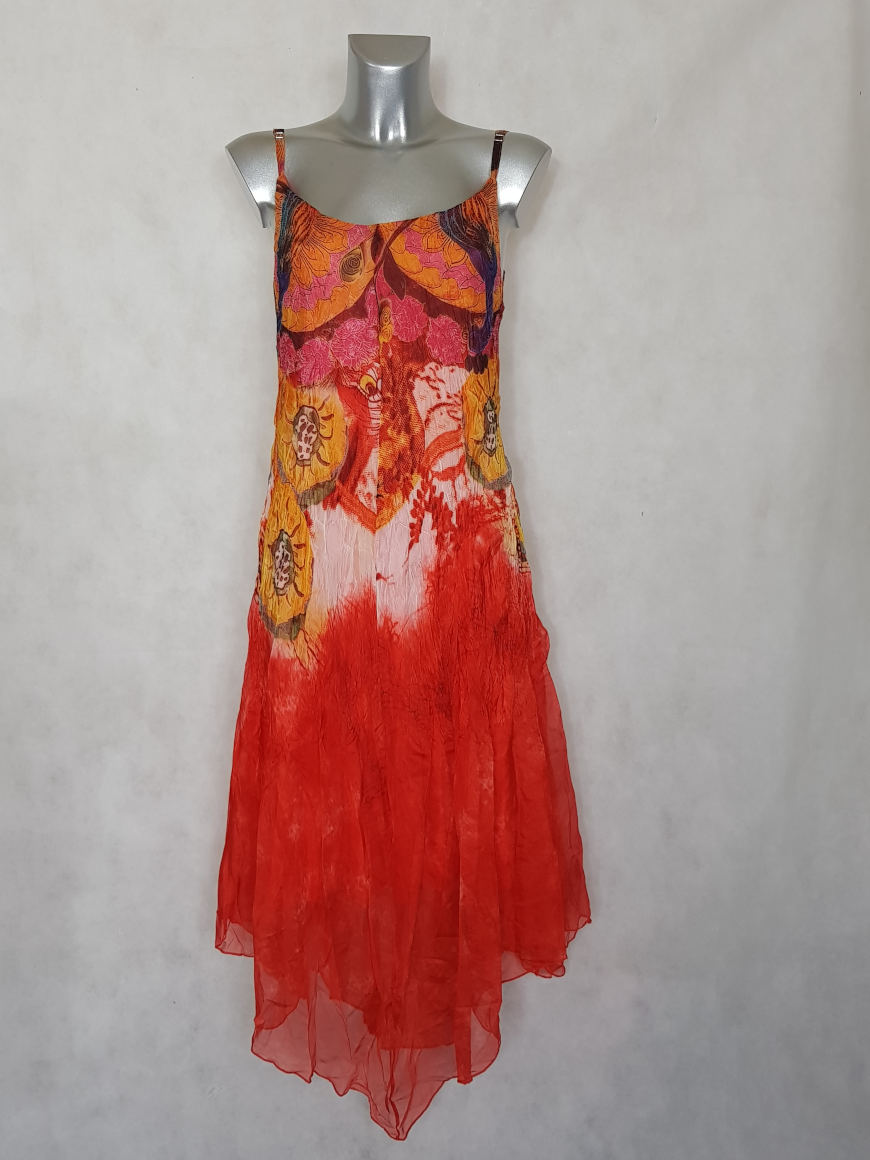 robe-femme-longue-evasee-voile-rouge-a-motif