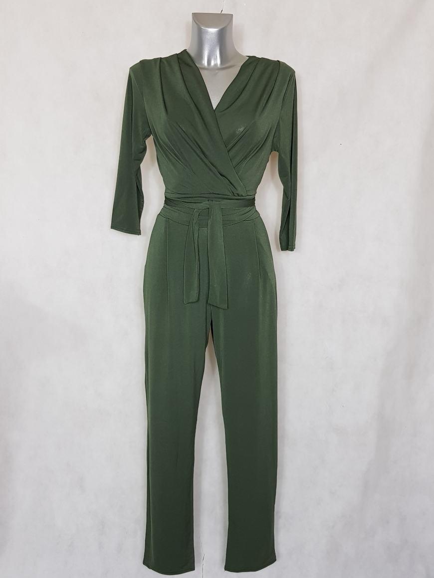 combinaison-pantalon-femme-kaki-fuselee-col-v2