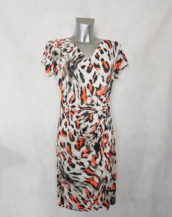 robe femme motif animal cache-coeur portefeuille