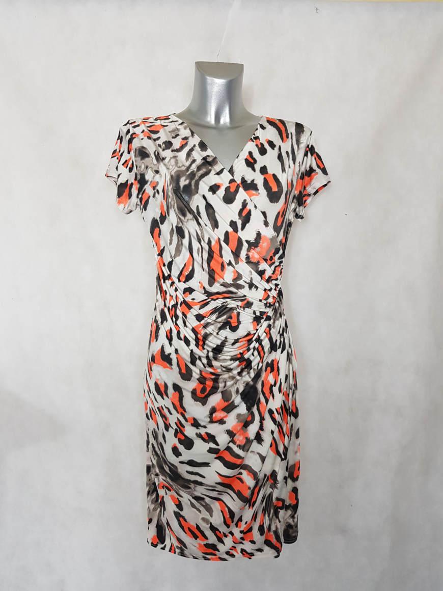 robe-femme-fluide-drapee-beige-animal-fluo-1