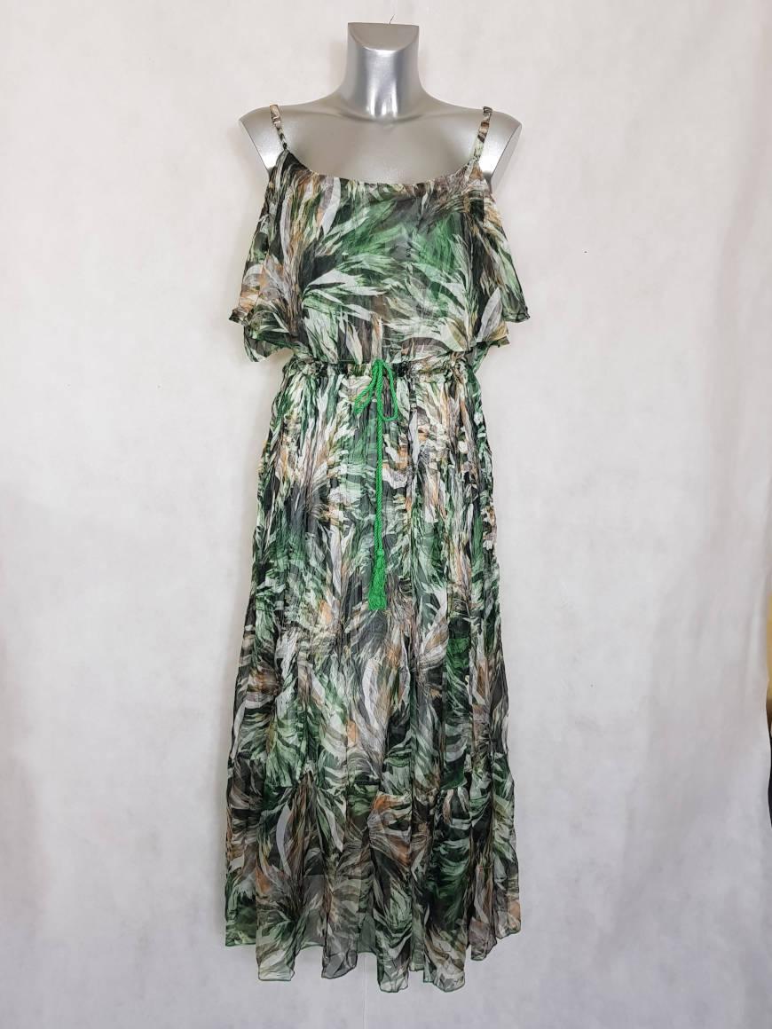 robe-femme-longue-en-voile-vert-a-motif-abstrait2