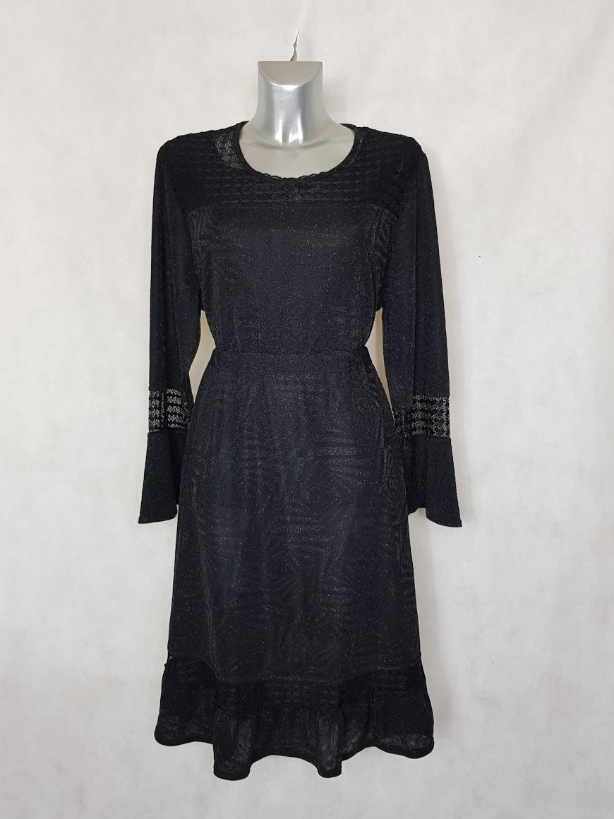 robe-femme-ronde-fluide-evasee-noir-paillete1