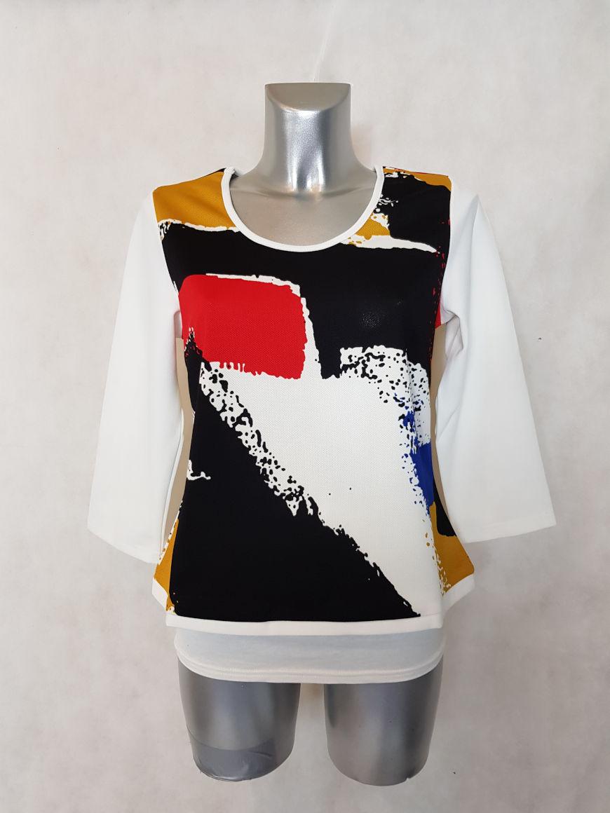 tunique-femme-droite-motif-abstrait-blanc