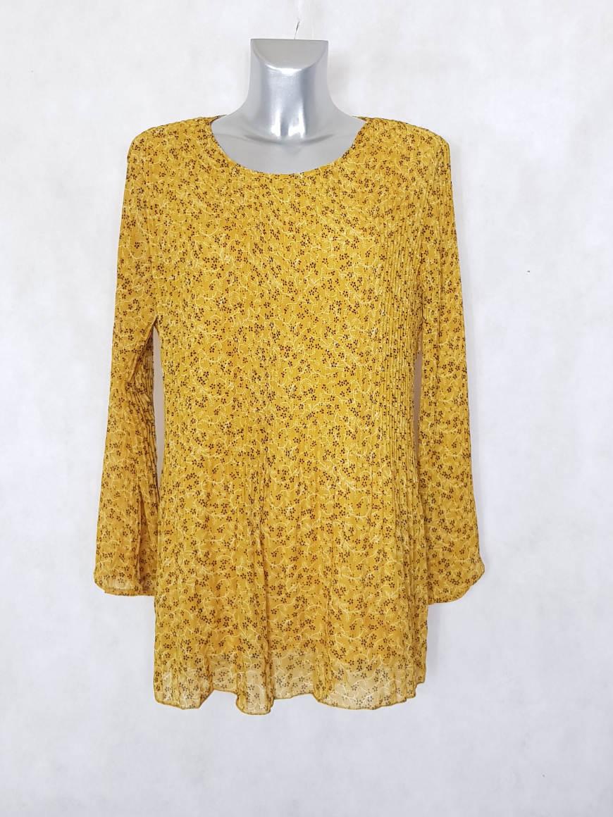 tunique-femme-ronde-plissee-voile-fleurie-jaune1