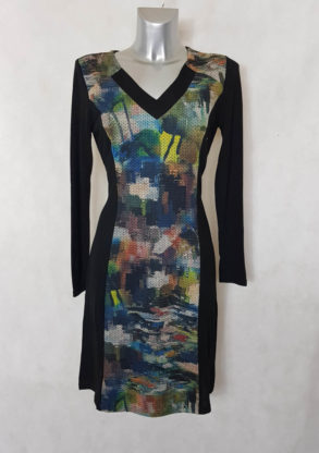 Robe pull droite imprimé originale femme fashion