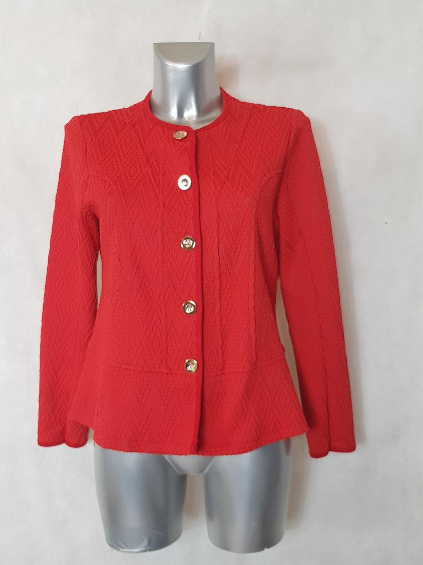 veste-blazer-femme-ronde-rouge-avec-motif