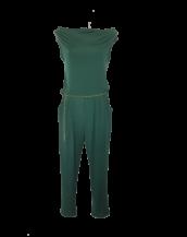Combinaison pantalon femme ajustée ceinturée col bénitier et sans manches